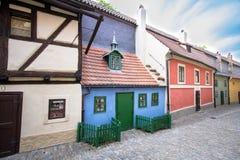 Golden Lane, Prague. Golden Lane Zlata ulicka, Prague, Czech Republic stock images