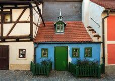 Houses on Golden Lane in Prague. Golden Lane in Prague, house 19. Czech Republic royalty free stock images