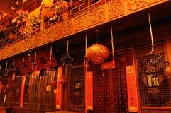 Golden lantern of midnight Stock Images