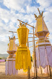 Golden lantern. Golden thai traditional style lantern and blue sky Stock Images