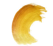 Golden large brush stroke Stock Photos