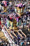 Golden large shrine festiva Stock Images