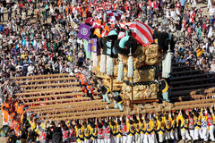 Golden large shrine festiva Royalty Free Stock Photography