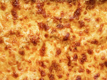 Golden lasagna baked cheese crust food background Stock Image