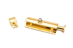 Golden latch Royalty Free Stock Photo