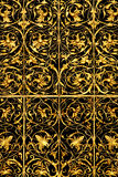 Golden lattice Stock Photography