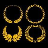 Golden laurel Royalty Free Stock Photos