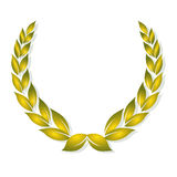 Golden laurel award Royalty Free Stock Photography