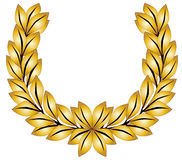 Golden Laurel Crown Royalty Free Stock Photography