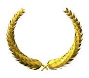 Golden laurel wreath royalty free stock photos