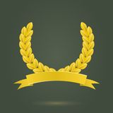 Golden Laurel Wreath Stock Image