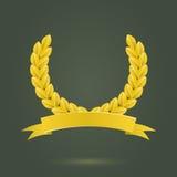 Golden Laurel Wreath Stock Image