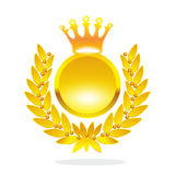 Golden laurel wreath Royalty Free Stock Photography