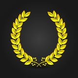 Golden laurel wreath Stock Photo