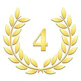 Laurel wreath fourth anniversary on a white background royalty free illustration
