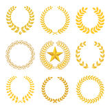 Golden laurel wreaths Royalty Free Stock Photo