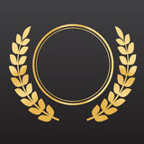 Golden laurel wreaths Royalty Free Stock Photography