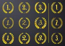 Golden laurel wreaths Royalty Free Stock Image