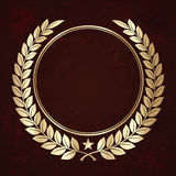 Golden laurel wreaths Stock Images