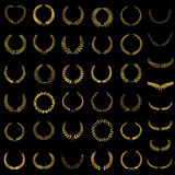 Golden laurel wreaths Stock Photo