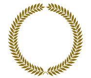 Golden laurel wreaths - vector illustration. Golden round  laurel wreaths. Vector format, fully editable, you can change form and color Stock Images