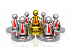 Golden leader and business team Royalty Free Stock Photography