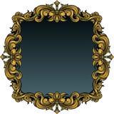Golden Leaf Frame Royalty Free Stock Images
