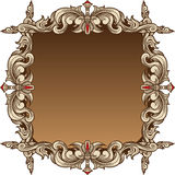 Golden Leaf Frame - Brown Royalty Free Stock Photo