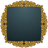 Golden Leaf Frame - Swirl Royalty Free Stock Photos