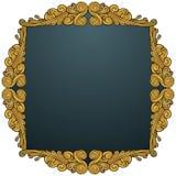 Golden Leaf Frame - Swirl Royalty Free Stock Photos