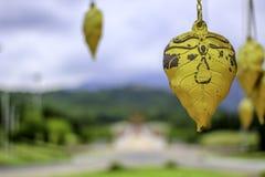 Golden Leaf. In Royal Park Rajapruek Chiangmai, Thailand Royalty Free Stock Photo