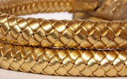 Golden leather Stock Image