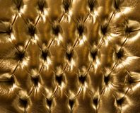 Golden leather background Royalty Free Stock Photo