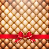 Golden leather  with red. EPS 10 Royalty Free Stock Images