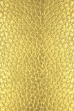 Golden leather texture Stock Image