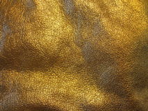 Golden leather texture stock photo