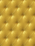Golden leather upholstery Royalty Free Stock Photography