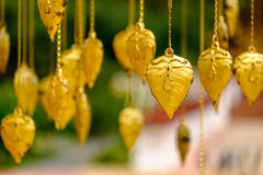 Golden leave decoration Stock Photography