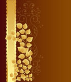 Golden leaves background Royalty Free Stock Photo