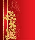 Golden leaves background Stock Image