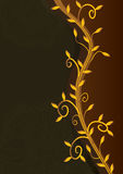 Golden Leaves Royal Card_eps vector illustration