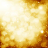Golden lens flare background Stock Photo