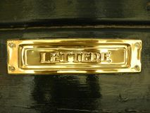 Golden letter box in Italy Royalty Free Stock Photo