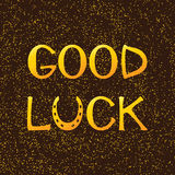 Golden lettering good luck Stock Photos