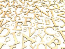 Golden letters background Stock Image