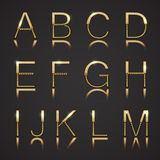 Golden Letters with Diamonds Stock Images