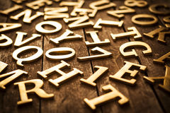 Golden Letters Stock Images