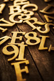 Golden Letters Royalty Free Stock Photos