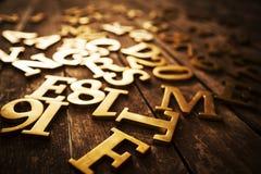 Golden Letters Stock Photo