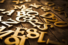 Golden Letters Royalty Free Stock Photo